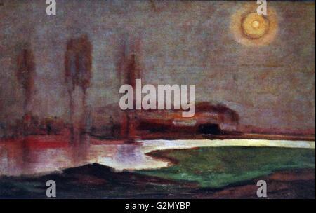 Gemälde des berühmten holländischen Malers Piet Mondrian (7. März 1872 bis 1. Februar 1944), die Arbeit mit der - Stockfoto