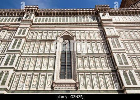 Kathedrale von Florenz, Cattedrale Di Santa Maria Del Fiore, dekorative Wand, Florenz, Toskana, Italien - Stockfoto