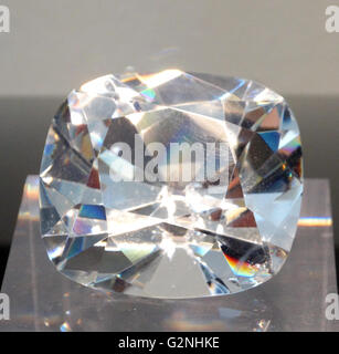 Die Jubilee Diamant, auch als, den Reitz Diamond bekannt. Eine farblose, Kissen-förmigen Diamanten mit einem Gewicht - Stockfoto