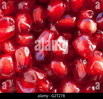 saftiger Granatapfel Samen Nahaufnahme - Stockfoto