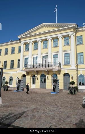 Finnland, Helsinki, finnischer Präsidentenpalast, ehemaligen Kaiserpalast. - Stockfoto