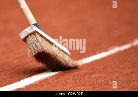 Paris, Frankreich. 3. Juni 2016. Roland Garros, Paris, France, French Open Tennis Championships, 13. Tag. Abbildung - Stockfoto