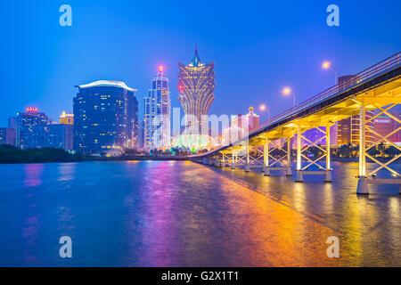 Macao, China - 11. März 2016: Gebäude von Macau Casino am 11. März 2016, Glücksspiel, dass Tourismus Macaus größte - Stockfoto