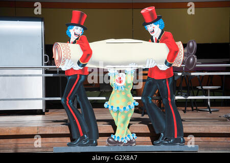 Clown Wandmalerei im Luna Park Sydney, Milsons Point, Sydney, New South Wales, Australien - Stockfoto