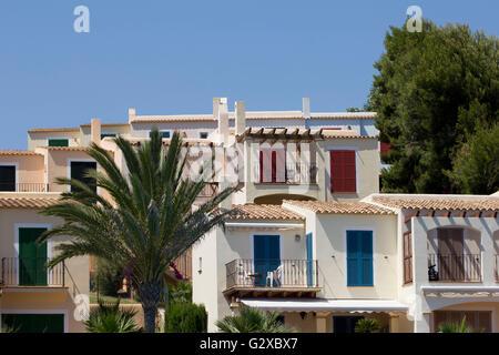 Ferienhäuser, Cala Murada, Mallorca, Mallorca, Balearen, Spanien - Stockfoto
