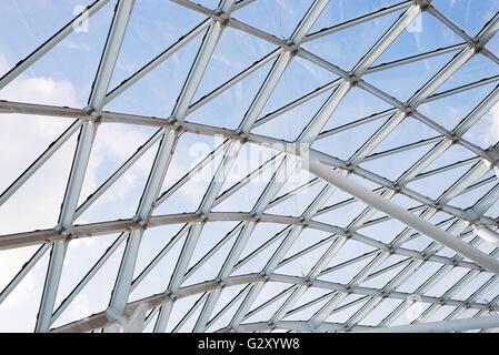 Stahl-Glas Dach Decke Wand Bau Sichtfenster mit Support-system - Stockfoto