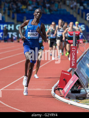 Alexander-Stadion, Birmingham, UK. 5. Juni 2016. IAAF Diamond League Birmingham. Asbel Kiprop (KEN) Diamond League - Stockfoto