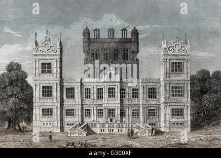Wollaton Hall, Wollaton Park, Nottingham, England, 18. Jahrhundert - Stockfoto