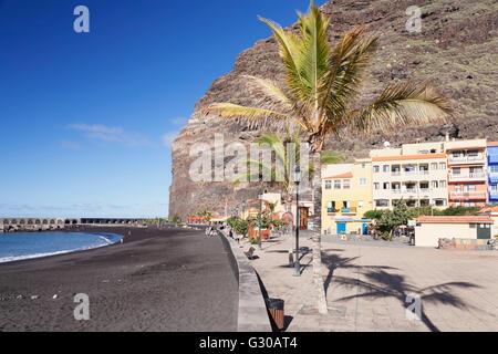Strand von Puerto de Tazacorte, La Palma, Kanarische Inseln, Spanien, Atlantik, Europa - Stockfoto