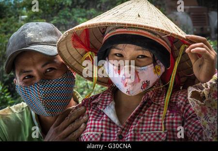 Arbeiter in Ha Giang Province, Vietnam. - Stockfoto