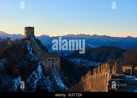 China, Provinz Hebei, Great Wall Of China, Jinshanling und Simatai-Abschnitt, UNESCO-Welterbe - Stockfoto