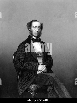 JOHN WALTER (Junior) Staatsmann, Inhaber von The Times Datum: 1818-1894 - Stockfoto