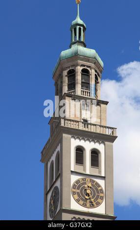 Deutschland, Bayern, Augsburg, Perlach-Turm, - Stockfoto