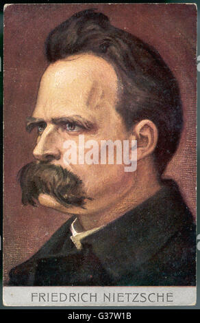 FRIEDRICH WILHELM NIETZSCHE-deutscher Philosoph und Dichter Datum: 1844-1900 - Stockfoto