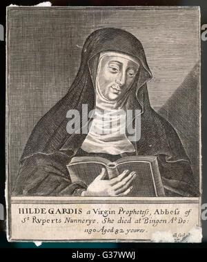 St. HILDEGARD VON BINGEN deutschen Religionsgründer und Äbtissin des Klosters Rupertsberg Datum: 1098-1179 - Stockfoto