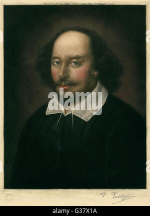 WILLIAM SHAKESPEARE (1564-1616), englischer Dramatiker und Dichter - Stockfoto