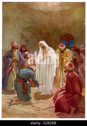 jesus erscheint den jüngern stockfoto, bild: 140051477 - alamy