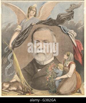 LOUIS PASTEUR französischer Chemiker Datum: 1822-1895 - Stockfoto