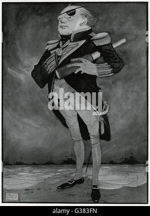 WINSTON CHURCHILL (1874-1965), britischer Staatsmann und Autor als erster Lord der Admiralität in einer Pose erinnert - Stockfoto