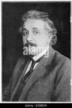 ALBERT-EINSTEIN-deutscher Physiker geboren.  Gewinner des Nobelpreises für Physik im Jahr 1921.      Datum: 1879 - Stockfoto