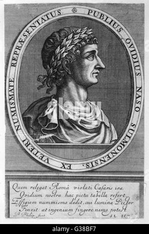 PUBLIUS OVIDIUS NASO, Ovid römische Dichter Datum genannt: 43BC - 17 - Stockfoto