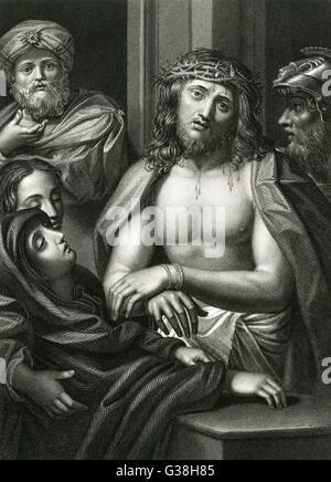JESUS von NAZARETH gekrönt mit Dornen Datum: 6 v. Chr. - 30 n. Chr. - Stockfoto