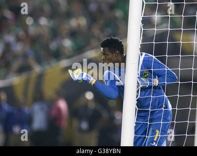 Los Angeles, Kalifornien, USA. 9. Juni 2016. Jamaika-Torwart Andre Blake #1 in einer Copa America Fussball match - Stockfoto