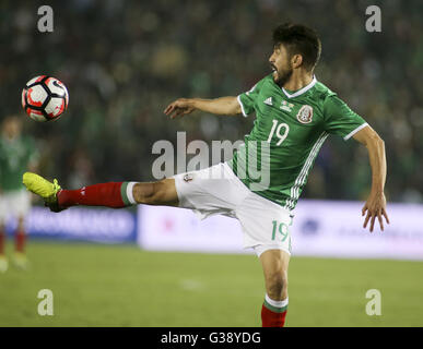 Los Angeles, Kalifornien, USA. 9. Juni 2016. Mexiko nach vorn Oribe Peralta #19 in einer Copa America Fussball match - Stockfoto