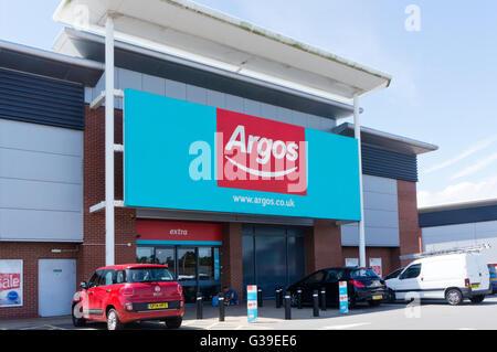 Ein Zweig der Argos Katalog Händler. - Stockfoto