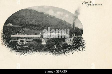Homestead - heiße Quellen, Bath County, Virginia, USA Datum: ca. 1903 - Stockfoto