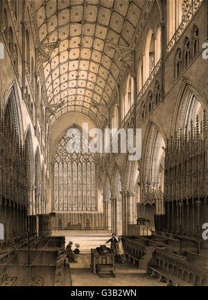 Carlisle Kathedrale: ein Blick auf die Chor-Datum: ca. 1850 - Stockfoto
