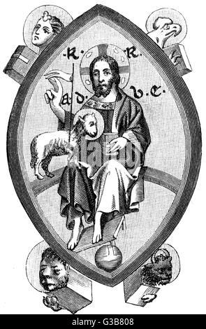Jesus von Nazareth (6 v. Chr. - 30 n. Chr.): Jesus als Heiler. - Stockfoto