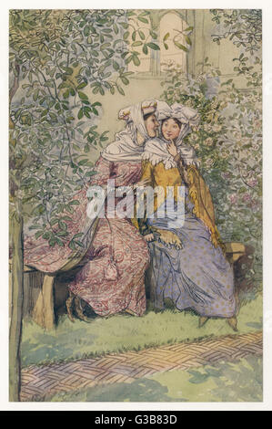 Akt II, Szene, die ich Frau Ford & Frau Page Plot an Sir John Datum Rache: 1910 - Stockfoto
