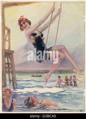 Schwingen und flirten...         Datum: 1913 - Stockfoto