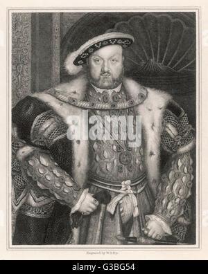 KÖNIG HEINRICH VIII. (1491-1547) - Stockfoto