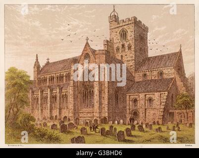 Carlisle Kathedrale, Cumbria.         Datum: 1876 - Stockfoto