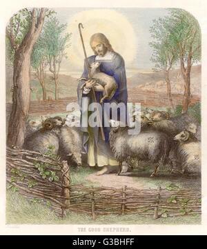 jesus der gute hirte stockfoto, bild: 184222216 - alamy