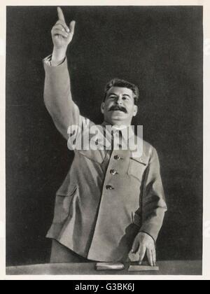 JOSEF STALIN orating Datum: 1879-1953 - Stockfoto