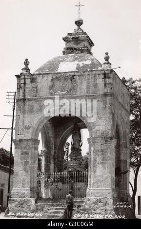Der Kalvarienberg von Cuernavaca, Mexiko auf Avenida Morelos sur. Das erste Gebäude (nur eine von zwei hier abgebildet), - Stockfoto