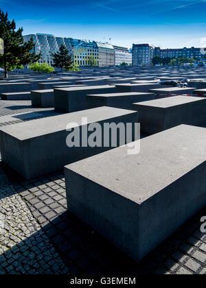 Holocaust-Mahnmal in Berlin - Stockfoto