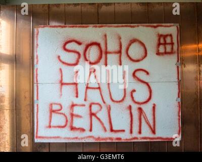 Innere des Soho House Berlin - Stockfoto