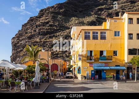 Promenade, Puerto de Tazacorte, La Palma, Kanarische Inseln, Spanien, Europa - Stockfoto