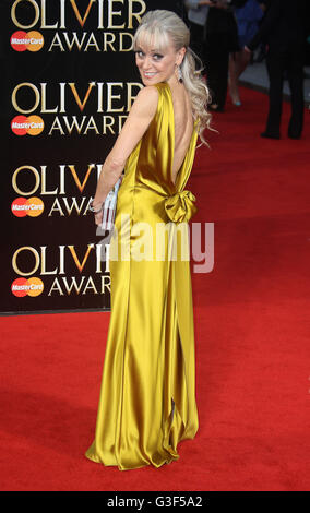3. April 2016 - Tracie Bennett Teilnahme an The Olivier Awards 2016 am Royal Opera House Covent Garden in London, - Stockfoto