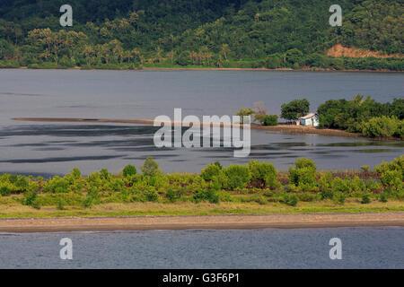 Küste der Insel Lombok Lembar Hafen West Nusa Tenggara Provinz, Indonesien - Stockfoto