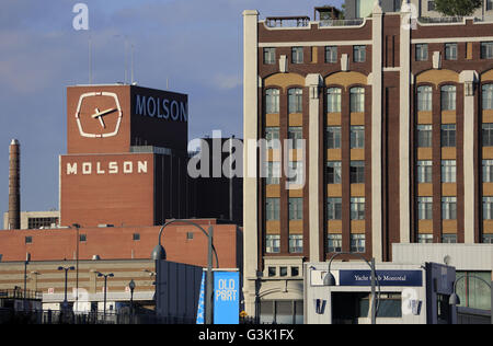 Ansicht von Molson Coors Brewery Company in alten Montreal.Montreal,Quebec,Canada - Stockfoto