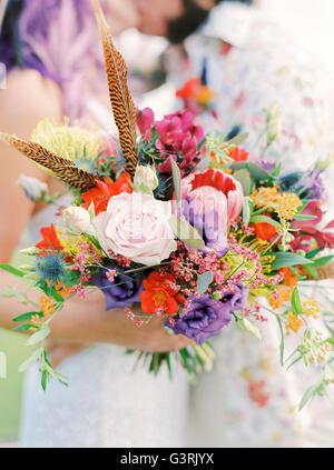 Schweden, enge-Bouquet an Hippie Hochzeit