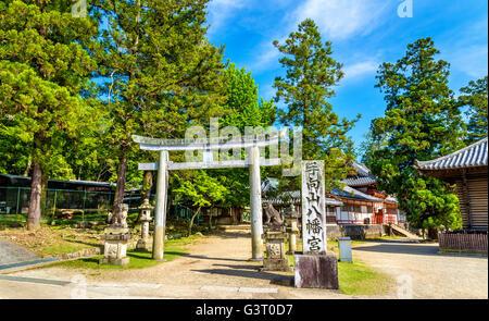 Tamukeyama Hachimangu Schrein in Nara, Japan