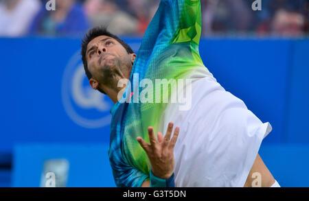 London, UK. 14. Juni 2016. Aegon Tennis Championships Queens Club London UK Stan Wawrinka SUI V Fernando Verdasco - Stockfoto
