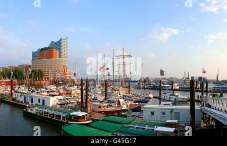 Europa Deutschland Hamburg Hafen Hafen Port Elbphilharmonie - Stockfoto