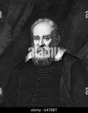 Galilieo. Porträt von Galileo Galilei (1564-1642), italienischer Astronom, Physiker, Ingenieur, Philosoph und Mathematiker. - Stockfoto
